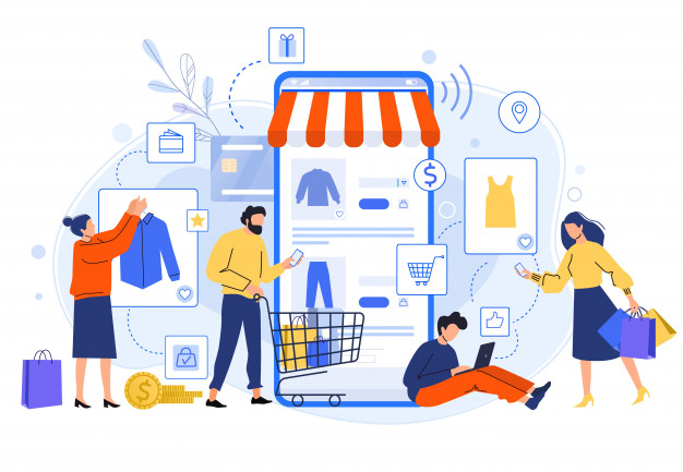 mobile-online-shopping-people-buy-dresses-shirts-pants-online-shops-shoppers-buying-internet-sale-flat-illustration-online-clothing-store-discount-total-sale-concept_229548-60